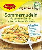 Maggi Fix und Frisch Sommernudeln mit buntem Gemüse, 40er Pack (40 x 34 g)