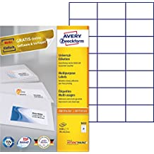 *** TOP Avery-Zweckform 3652 Etiketten 525 Stück *** 70 x 42,3 mm 25 Blatt