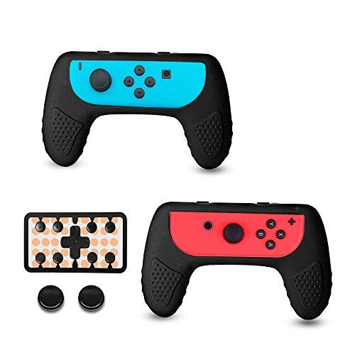 Nintendo Switch Joy-Con Grip Controller Kit mit Thumbstick Caps 2-Pack, Verschleißfeste Joy Con Griff Grips Zubehör Kit von CHINFAI -