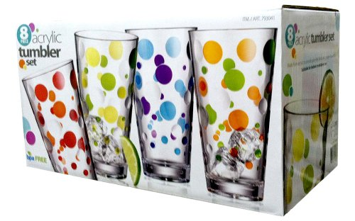 8pc-polka-dot-acrylic-tumbler-set-24oz-capacity-single-by-costco