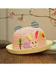 befitery Niños Bonito sombrero de paja Niños Sombrero gorros con Imprimir una abeja