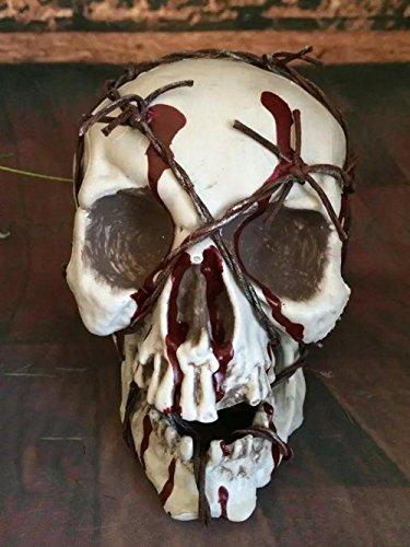 Halloween blutige Schädeldekoration Spoof Scary Requisiten High Grade Blister Material Tope gebunden an Atmosphäre des Terrors 0.5kg