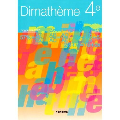 Dimathème 4e : Programme 2007