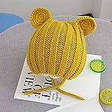 Kleinkind Kinder Häkeln Beanie Hüte Unisex Jungen Mädchen Strickmützen Winter Cute Infant Baby Earflap Cap,Yellow