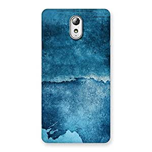 Delighted Blue Paint Print Back Case Cover for Lenovo Vibe P1M