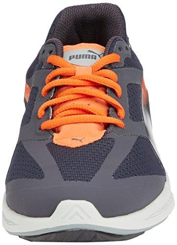 Puma  Ignite Jr, Sneakers basses mixte enfant Bleu (Periscope/Aged Silver/Vermillion Orange)
