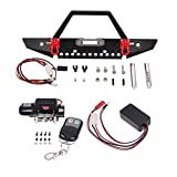 Sharplace 9.5CTI Winch Front Bumper w/ Wireless Remote Controller for 1/10 Axial SCX10 Upgrade Parts