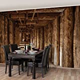 Apalis Vliestapete Alte Goldmine Fototapete Breit | Vlies Tapete Wandtapete Wandbild Foto 3D Fototapete für Schlafzimmer Wohnzimmer Küche | braun, 94529