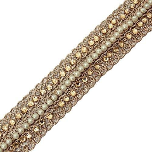 Goldene Band Dekorative Craft Versorgung 2,5 cm Breite Sari Band durch das Yard (Golden Sari)