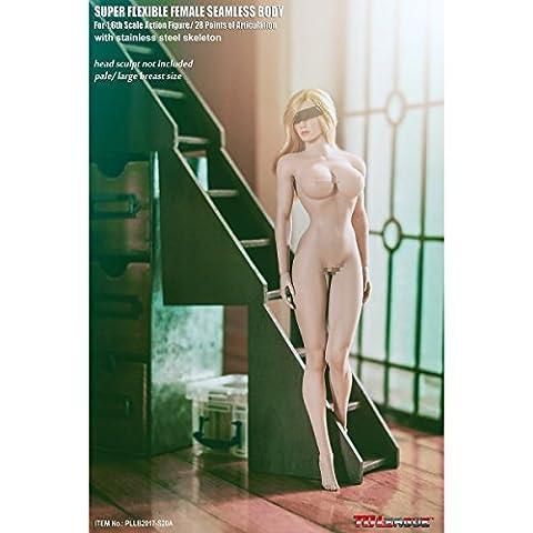 OBEST TBLeague Gliederpuppe Weibliche Körper Figur Weiblich 1/6 12 Zoll 28cm liederpuppe Weiße Haut Große Brust Bienille Tae Super Flexible Weiblich nahtlos Body (No-Head Sculpt) (S20A)