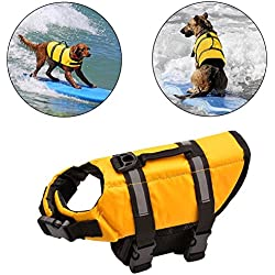 Salvavidas perro & Pet seguridad chaleco conservador traje de baño conservador de primeros auxilios flotabilidad para mascotas nuevo de calidad superior salvamento chalecos (S)