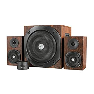 Trust 20245 Vigor 2.1 PC Speaker System with Subwoofer for Computer and Laptop, 100 W, UK Plug, Brown