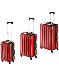 Imex rígida Maleta en rojo con candado TSA) Juego de 3BS–L XL