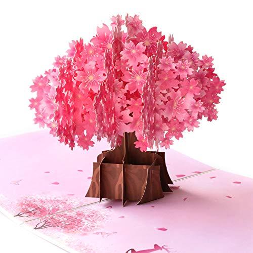Paper Spiritz Sakura Pop Up Karte Valentinstag Karte 3D Geschenk Karte Blume Karte Romantik Karte Jahrestag Karte Liebe Karten