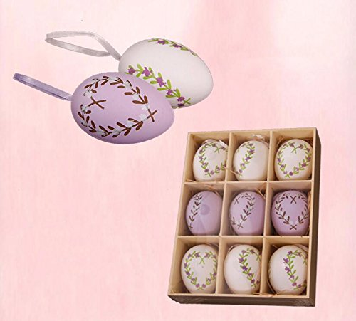 LESX-Easter eggs Easter Egg Geburtstag Geschenke Geschenk Emulation Eier Plastikspielzeug Hand-Painted Lavendel Ostern (Maskottchen Aufblasbare)