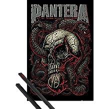Póster + Soporte: Pantera Póster (91x61 cm) Snake Eye Y 1 Lote De 2 Varillas Negras 1art1®