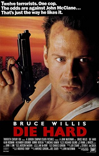 Die Hard Bruce Wills Classic Film Poster, Papier, a1