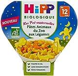 Hipp Biologique Les Pré-Maternelles Pâtes Animaux du Zoo aux Légumes dès 12 mois - 6 assiettes de 230 g
