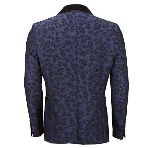 XPOSED Herren Anzugjacke, Paisley * One size Blau