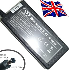 Replacement Laptop AC Adapter 19v 3.1a ( 5.5 x 3.0 mm with smartpin Tip ) Fits Samsung N110 N120 N130 N140 N150 N210 N220 N310 N510 R20 R40 Q35 series Laptops and more