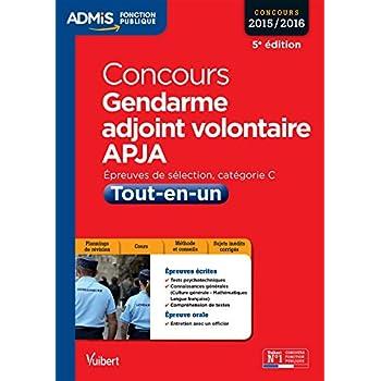 Concours Gendarme adjoint volontaire - APJA - Catégorie C - Tout-en-un - Concours 2015-2016