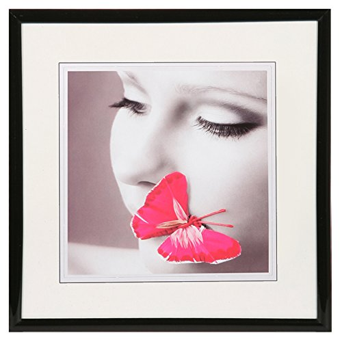 New Lifestyle Kunststoff Bilderrahmen quadratisch 20x20 30x30 40x40 50x50: Farbe: Schwarz | Format: 40x40