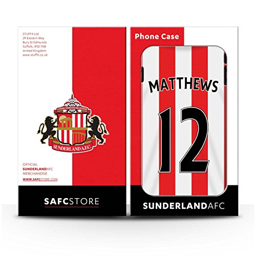 Offiziell Sunderland AFC Hülle / Matte Snap-On Case für Apple iPhone 6S+/Plus / Pack 24pcs Muster / SAFC Trikot Home 15/16 Kollektion Matthews