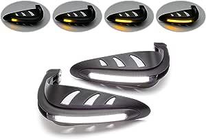 protezioni manuali universali per LED da 2 pezzi 7//8Indicatore di direzione a LED DRL Gorgeri Protezioni manuali per moto