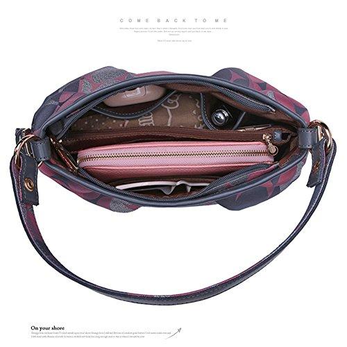 Sacchetto di cintura di Yoome per le donne Borse Handle di tela di canapa da donna Borse di grande eleganza per le donne Borse nuove di Chic - Perù G.Blue