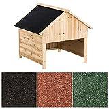 CLP Holzgarage für Rasenroboter | Unterstand für Rasenmähroboter mit UV-Strahlenschutz | Überdachung für Mähroboter aus Holz | Holzhaus für Rasenroboter erhältlich Schwarz