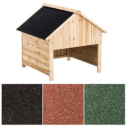 Clp box casetta in legno porta attrezzi da giardino i casetta esterno piccolo armadio giardino i piccolo capanno attrezzi, casotto tagliaerba nero