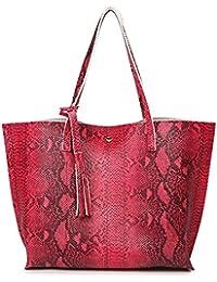Anne grande borsa a secchiello da donna, borsa a mano casual con grande capacità