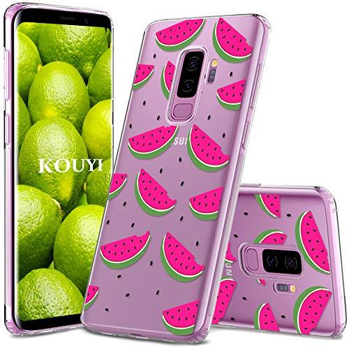 KOUYI Handyhülle kompatibel mit Samsung Galaxy S9 Plus,Motiv Design Schutzhülle Silikon Case,Crystal Handy-Tasche Hülle Back-Cover Dünn Durchsichtig,Smart-Phone Bumper Etui (Wassermelone)