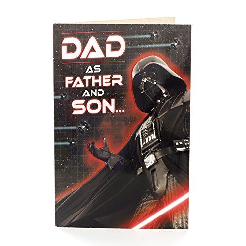 Hanson weiß 347519–0–17,8cm Disney Star Wars Darth Vader Dad aus Sohn Vatertag Karte