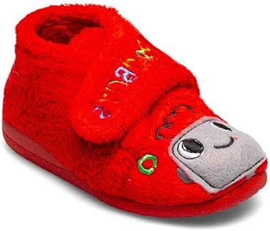 Botita Robot Rosso Pantofole da casa bambino inverno autunno