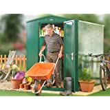 5 x 7 ft Metal Garden Shed in Dark Green (Flat Pack) - store all your garden tools and equipment in this secure unit from Asgard