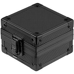 INFANTRY® Black Aluminium Watch Case Display Cushion Storage Gift Box