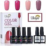 Ukiyo -Base + Top Coat y Capa Gel de esmalte para uñas UV LED de colores, serie High Gloss, 4 unidades 4PCS-1 …