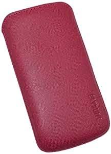 Suncase Original Echt Ledertasche mit Rückzugfunktion für Samsung Galaxy S4 i9505 vollnarbig-pink