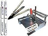 Sägetisch 012LH-3 als Gehrungssäge 92mm Schnitthöhe mit Längsschnitteinrichtung + Metabo Bosch Makita Stichsägeblätter u.2 180 mm lange Blätter mit T-Schaft für Stichsägen eine Sägestation