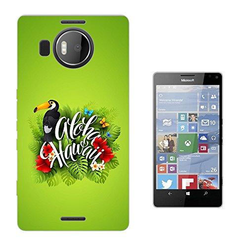 002664 - Aloha Hawaii Tropical Floral Roses flowers Toucan Bird Design Microsoft Nokia Lumia 950 XL Fashion Trend Silikon Hülle Schutzhülle Schutzcase Gel Rubber Silicone Hülle