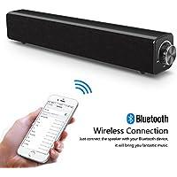Barre de son, haut-parleur Bluetooth Soundbar, filaire et sans fil Haut-parleur stéréo 20W HD Audio, musique basse, Cinéma maison portable Haut-parleur TV Surround Sound Bar pour PC, téléphone portable, TV, projecteur de tablette