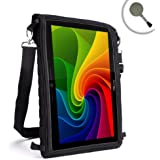 """Mobile Tablet Case & In-Car Viewing Cover w/ Mess Proof Capacitive Screen Protector - Fits Kurio 10"""" , TabExpress A20 Cortex A7 9"""" , DGM T-909 9"""" , DM Tech 1028DCS 10.2"""" & More Kids Tablets - by USA Gear"""