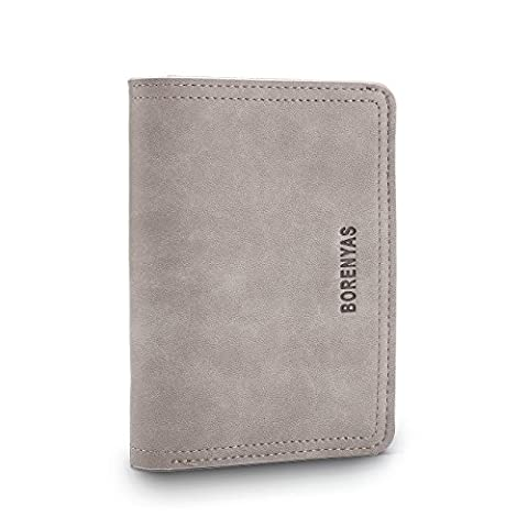 Ulisc Zipper Pocket Men Vintage Wallets Leather Wallet Fashion Brand Purse Card Holder Coin Purse