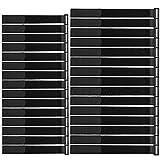 FULARR 30Pcs Klett-Kabelbinder, Multipurpose Klettbänder Set, Wiederverwendbare Klettverschluss Kabelbinder, Draht-Organizer für Kabel und Kabelmanagement -- 2 Größen -- Schwarz
