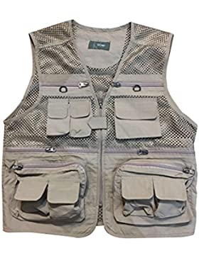 Zhhlinyuan Mens Lightweight Soft Practical Outdoor Photography Vest Waistcoat Gilet