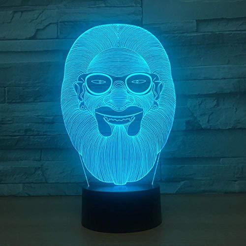 Geführte kreative Farbe der Mann-Form-3D Lampe 7 führte Steigungs-Nachtlicht-Kind-Baby-Schlafenfeiertags-Geburtstags-Geschenke