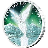 LIBERTAD Frozen Rhodium Aurora Rodio 1 Oz Moneta Argento Messico 2016 Monete (1 Oz Argento Bu Bu Coin)