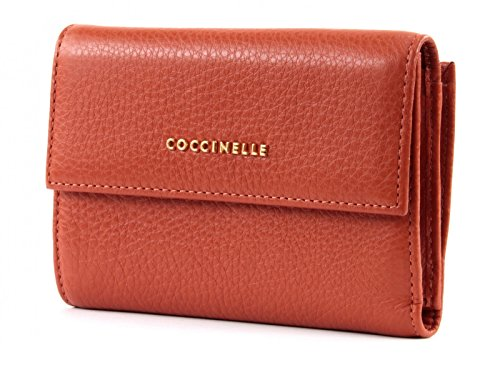 COCCINELLE Metallic Soft Flap Wallet Noir Multicolore