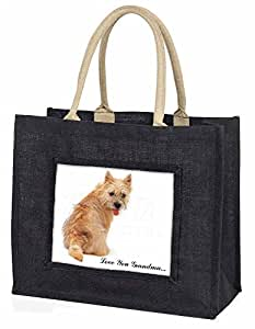 Cairn Terrier 'Love You Grandma' Large Black Shopping Bag Christmas Present Idea